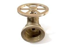 Brass Plumbing Shut Off Valve Stock Image