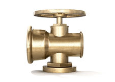 Brass Plumbing Shut Off Valve Stock Photography