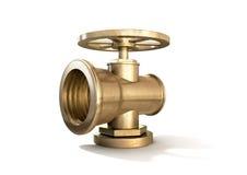 Brass Plumbing Shut Off Valve Royalty Free Stock Photography