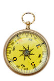 Brass pocket compass isolated on white background Stock Photos