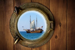 Brass Porthole royalty free stock photo
