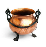 Brass pot up-front view 1 Royalty Free Stock Images