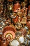 Brass pots Royalty Free Stock Photos