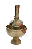 Brass Pour Ceremonial Water Thai Traditional isolate on white. Background Royalty Free Stock Photo