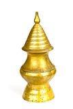 Brass Pour Ceremonial Water Thai Traditional. Isolate on white background Royalty Free Stock Photography