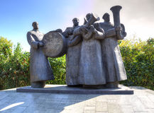 Brass Quartet. Monument. Lipetsk. Russia Royalty Free Stock Images