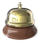 Brass Reception Bell. Royalty Free Stock Photo