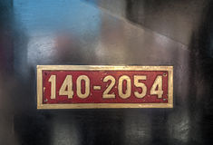 Brass reference plate Royalty Free Stock Photos