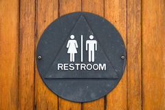 Brass restroom sign Royalty Free Stock Images