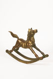 Brass Rocking Horse Stock Photography