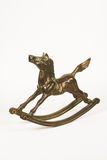 Brass Rocking Horse Royalty Free Stock Photo