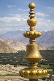 Brass roof ornament, Ladakh Stock Photo