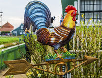 Brass Rooster Wind Vane Zaanse Schans Village Holland Netherlands Royalty Free Stock Image