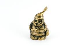 Brass Santa. Claus stock image