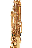 An brass saxophone part. Royalty Free Stock Photo