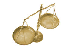 Brass Scale. On Isolated White Background royalty free stock photography