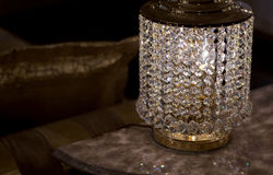 Brass sconces with crystal. Stock Photos