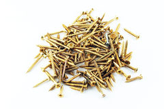 Brass Screws Stock Images