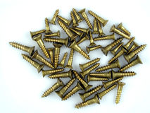 Brass screws royalty free stock photography