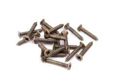Brass screws stock photos