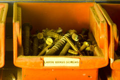 Brass Screws Stock Photography