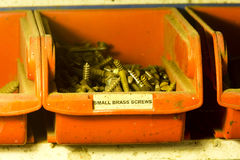 Brass Screws Royalty Free Stock Photography