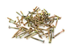 Brass self-tapping screws Royalty Free Stock Photography