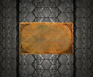Brass sheet onThai silver pattern texture Royalty Free Stock Image