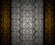 Brass sheet onThai silver pattern texture Stock Photos