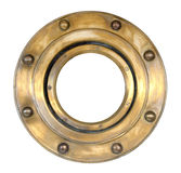 A brass ship's porthole Royalty Free Stock Images