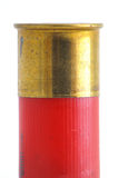 Brass on Shotgun Shell. Brass neck on shotgun shell Royalty Free Stock Photo