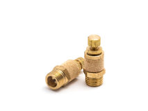 Brass silencer. Stock Image