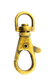 Brass snap hook Stock Images