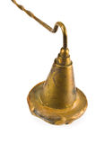 Brass sniffer bell for extinguishing candles Royalty Free Stock Photos