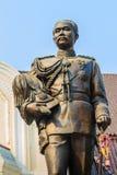 The brass statue of King Chulalongkorn Rama V at Phra Ramratch. Aniwet Palace Wang Ban Peun, former the king Rama 5 palace, one of the main public tourist Stock Photos