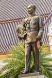The brass statue of King Chulalongkorn Rama V at Phra Ramratch. Aniwet Palace Wang Ban Peun, former the king Rama 5 palace, one of the main public tourist Stock Photography