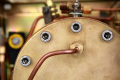 Brass steam barrel Stock Image