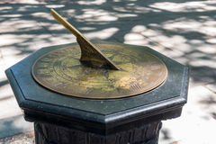Free Brass Sundial On A Stone Stand Royalty Free Stock Photography - 79075927