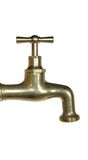 Brass tap. Brass watertap Royalty Free Stock Photography