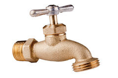 Brass Technical faucet Royalty Free Stock Image