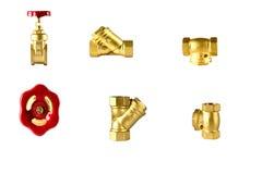 Brass three way ball valve,stop valve stock image