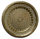 Brass Tray. Old engraved brass tray traditional Royalty Free Stock Images
