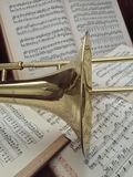 Brass Trombone and Classical Music 5 Stock Photography