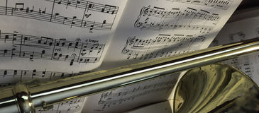 Brass Trombone and Classical Music 390 Royalty Free Stock Images