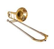 Brass Trombone. Isolated on white background. 3D render vector illustration