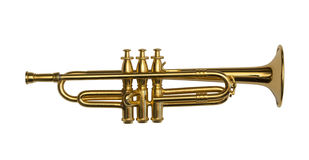 Brass Trumpet Royalty Free Stock Photos
