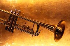 Brass trumpet horn Stock Image