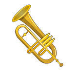 Brass trumpet Royalty Free Stock Photo