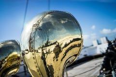 Brass tube harsh Stock Images
