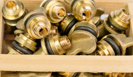 Brass valves Royalty Free Stock Images